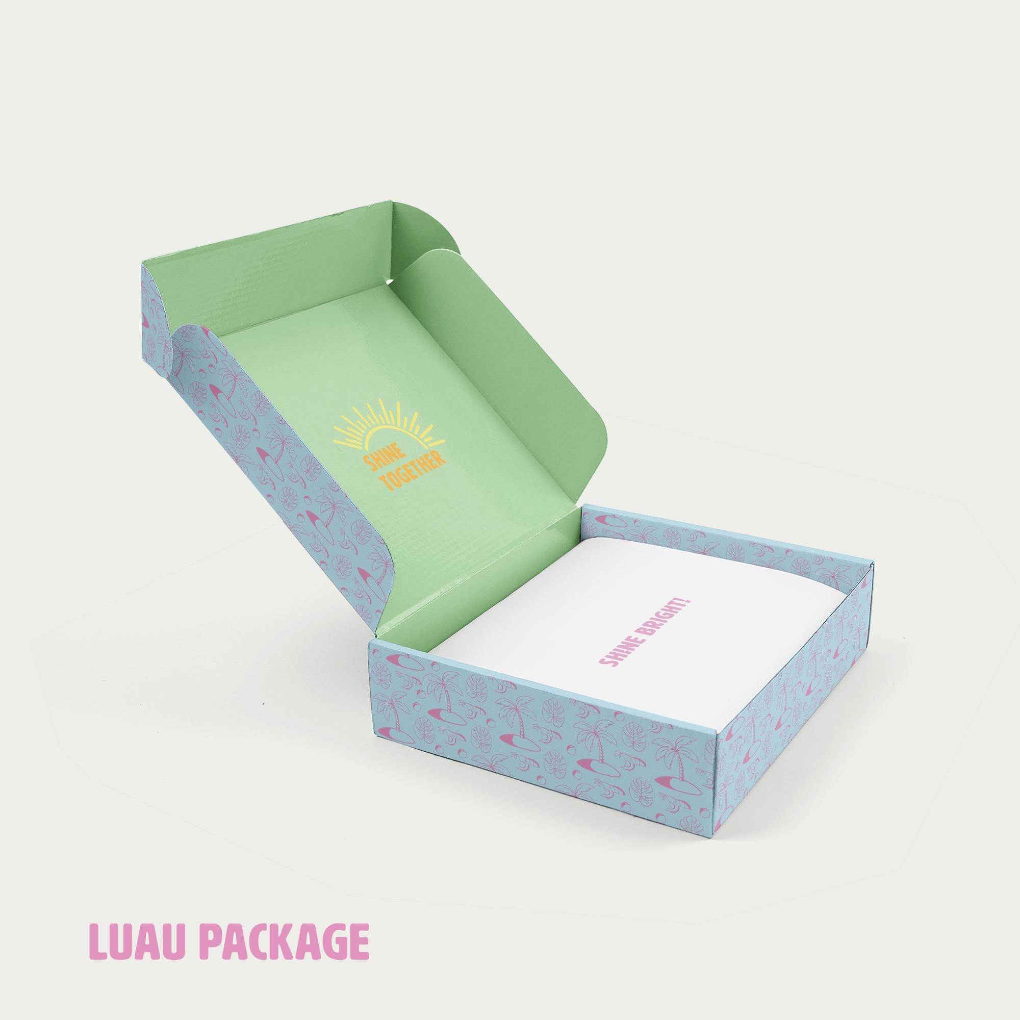 luau box with words
